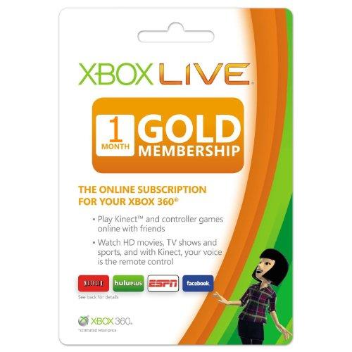 Xbox Live Month Membership Microsoft 360