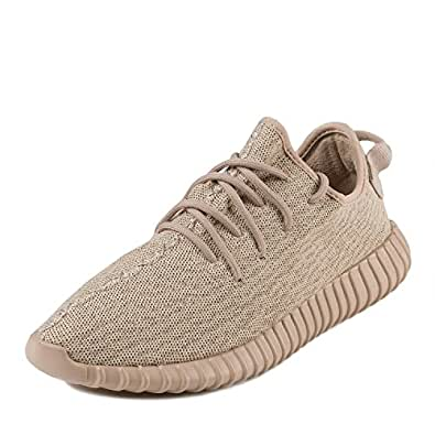 "Adidas Mens Yeezy Boost 350 ""Oxford Tan"" Light Stone/Oxford Tan Fabric Size 4.5"
