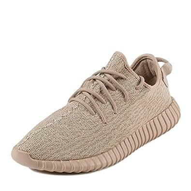 "Adidas Mens Yeezy Boost 350 ""Oxford Tan"" Light Stone/Oxford Tan Fabric Size 5.5"