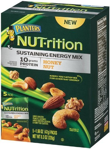 Planters, Nut-rition, Sustaining Energy Mix, Honey Nut, 8.3oz Box (Pack of 3)