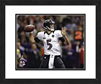 "NFL Baltimore Ravens Joe Flacco, Beautifully Framed and Double Matted, 18"" x 22"" Sports Photograph"
