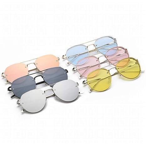 Jsfnngdv Gafas de Sol Retro de Cristal de Gran tamaño para ...