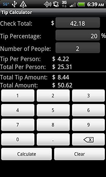 amazon com tip calculator appstore for android