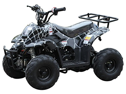 110cc ATV Four Wheelers Fully Automatic 4 Stroke Engine 6 Inch Tires Quads for Kids Spider (Cheap 4 Wheelers For Adults)