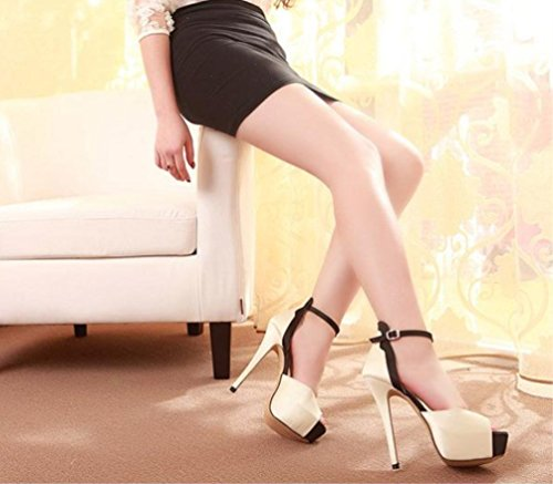 Bottom Women's High Super Modische mit Mund Fine Nackt Schuhe Heels Thick Shoes LIANGXIE Mix Sandalen Satin Heel High Comfort Zhhzz Heel Fisch 0dBwqtxp