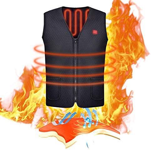 Hete-supply Beheizte Weste, USB Lade elektrische beheizte Körper Wärmer Dow Weste, waschbare Heizung warme Kleidung für Outdoor-Camping, Radfahren Skifahren