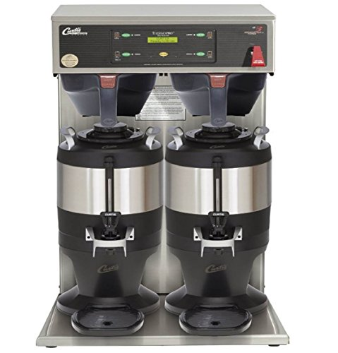 Wilbur Curtis G3 ThermoPro 1.5 Gallon Twin Coffee Brewer With Shelf - Commercial Coffee Brewer  - TP2T10A3500 (Each) by Wilbur Curtis