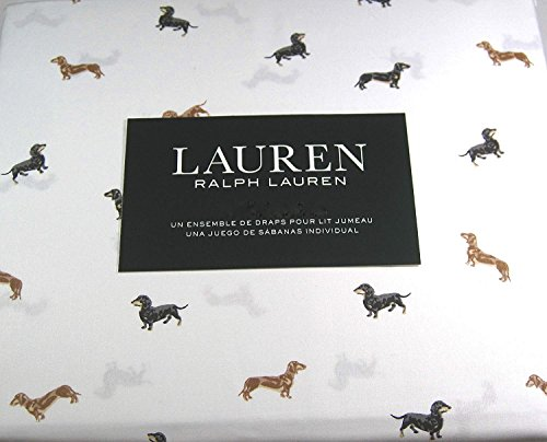 Lauren 3 Piece Twin Size Sheet Set DachshundDogs 100% Cotton