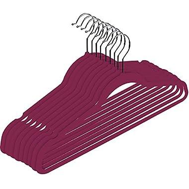 Premium Velvet Hangers (Pack of 50) Heavy Duty - Non Slip - Velvet Suit Hangers - by Utopia Home (Pink)