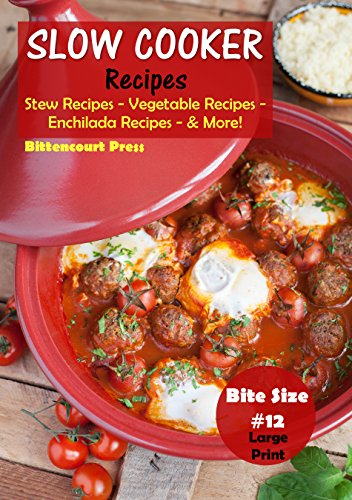 Slow Cooker Recipes - Bite Size #12: Stew Recipes – Vegetable Recipes – Enchilada Recipes - & More! (Slow Cooker Bite Size) by Bittencourt Press