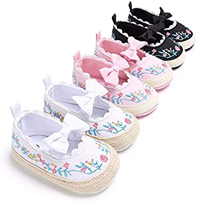 First Walkers Toddler Baby Girl Shoes Soft Sole Dot Princess Shoes Butterfly-knot Baby Shoes Prewalkers First Walker