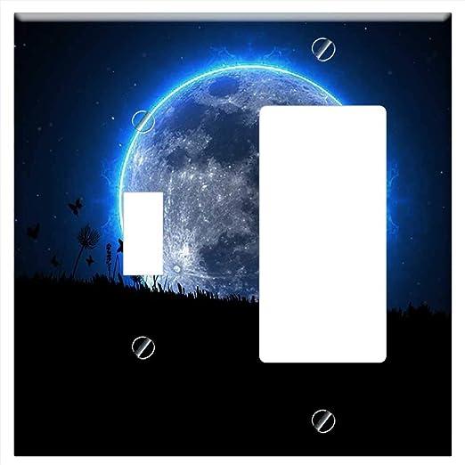 Amazon.com: Cubierta de la placa de pared Ninja Warrior Moon ...