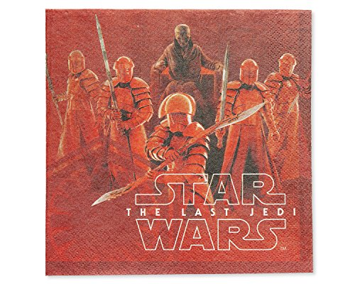 American Greetings Star Wars: The Last Jedi Party Supplies, Paper Lunch Napkins, 16-Count]()