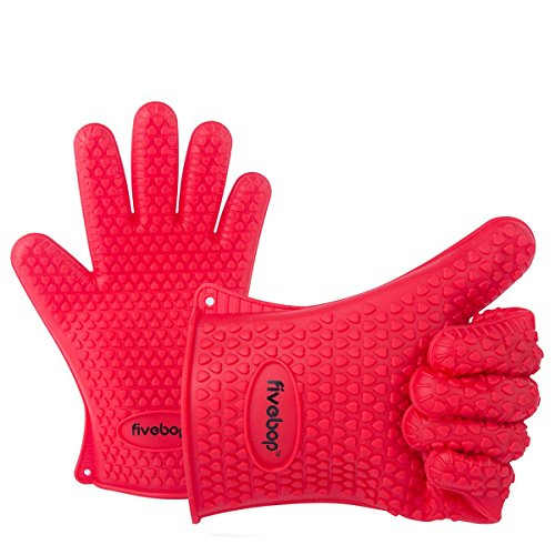 fivebop-silicone-cooking-gloves-heat-resistant-oven-mitt-for-grilling-bbq-kitchen-baking-potholders-