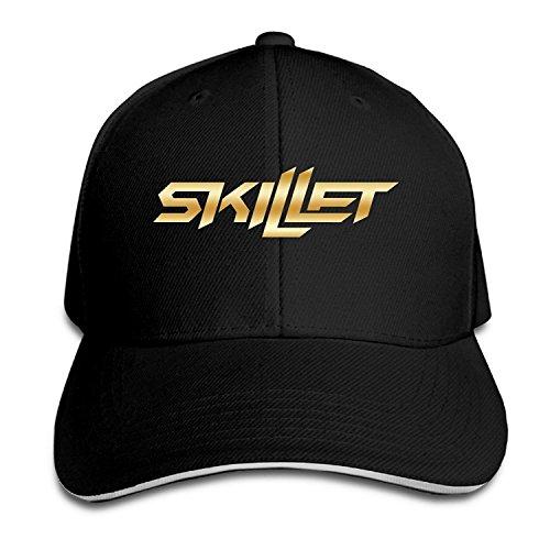 KMRR Skillet Band Gold Logo Flex Baseball Cap - Skillet Hat Band