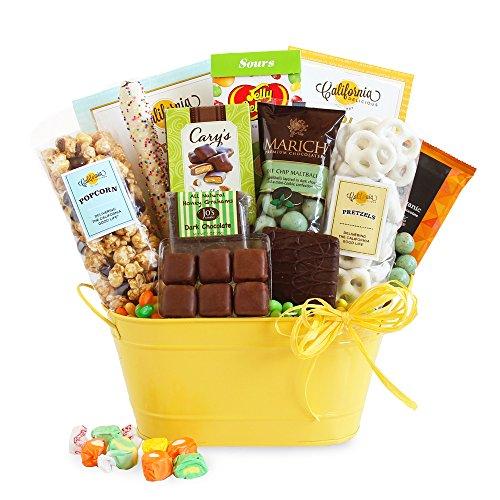 Sunburst Celebration of Sweets and Candy Gift Basket (Mint Chip Malt Balls)