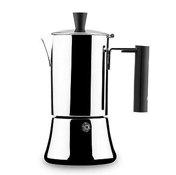 AQWWHY Cafetera espresso (4 tazas) Cafetera de acero ...
