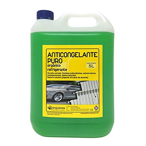 Anticongelante Puro-Concentrado Orgánico. Hasta -88ºC. Envase 5 Litros. Color Verde