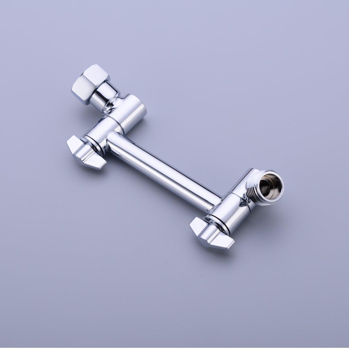 HANEBATH 4 Inch Brass Shower Arm Shower Head Combo Adjustable Height Arm Mount,Chrome by HANEBATH (Image #5)