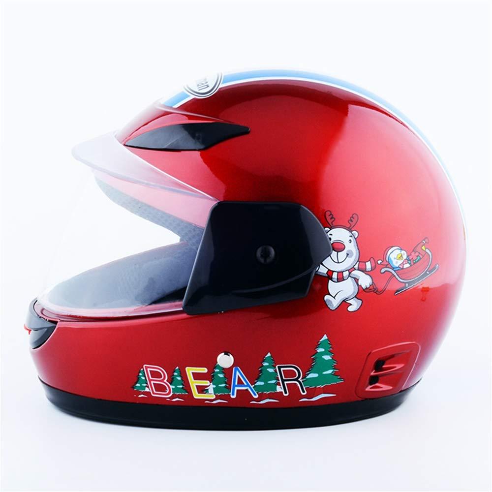 Casco de moto casco elé ctrico Casco de montar casco completo Casco de invierno e invierno para niñ os (Color : Amarillo) YINUO-Casco