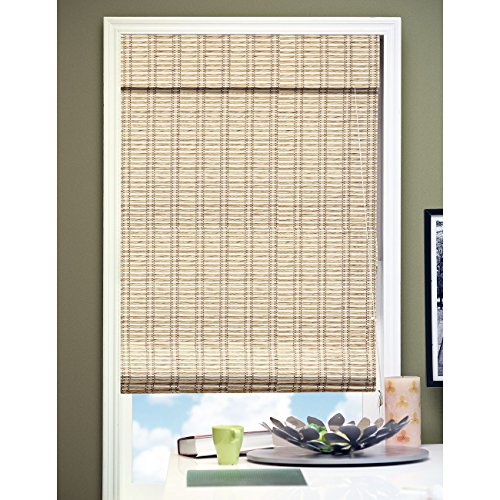 Chicology RMTB6072 Roman Shade, Privacy Fabric, Bamboo Look, Tuscan Bronze, 60