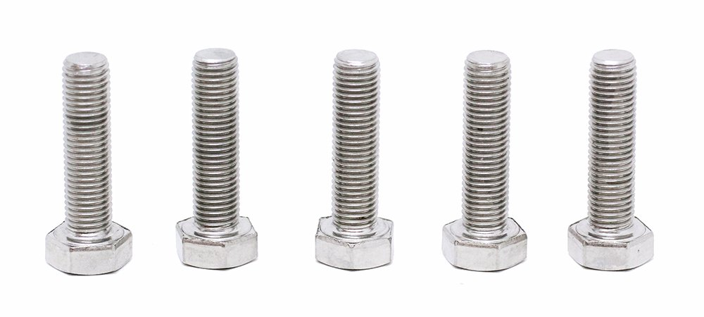 (5pcs) BelMetric M8X1.0X30 A2-70 Stainless Steel Corrosion Resistant Metric Fine Threaded Hex Tap Bolts DIN 961 for Automobiles, Motorcycles and Watercraft BR8X1.0X30SS