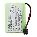 2 PCS Rechargeable Uniden BT-909 Battery replacement3*AAA 3.6V 800mAh NI-MH Fruit Green by Creeracity