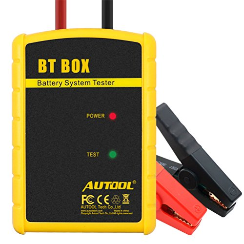 Wireless Bluetooth Car Battery Tester Automotive Battery Analyzer for Regular Flooded,Auto Cranking and Charging System Diagnostic Analyzer Cover All 12V Vehicles,Boat for Android & iOS System