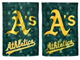 Team Sports America Suede Oakland A's Glitter Logo Garden Flag, 12.5 x 18 inches