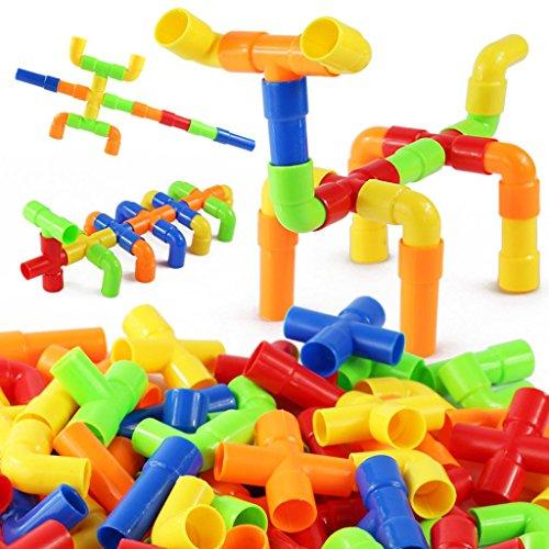 JingQ Plastic Pipeline Construction Blocks Assembling Toy