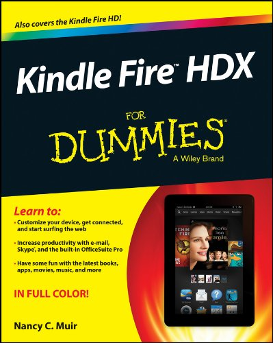 Kindle Fire HDX For Dummies 1st Edition