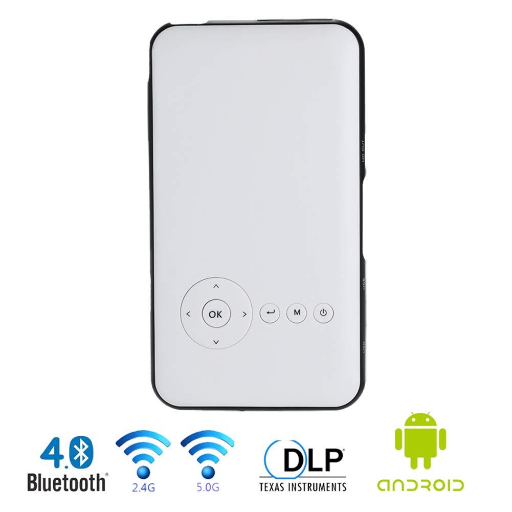 OMZBM Smart Pocket Mini Proyector, 1080P Teatro Video DLP ...
