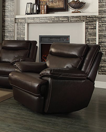 Coaster MacPherson Casual Brown Leather Match Glider Recliner
