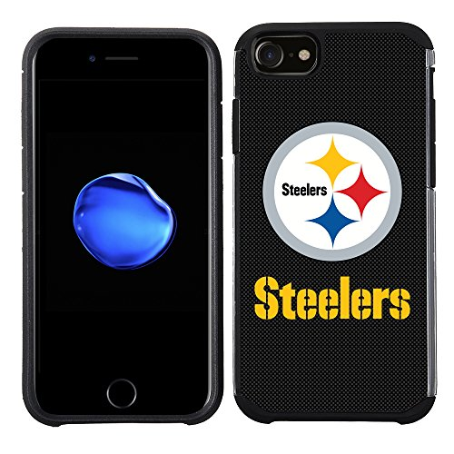 Prime Brands Group Cell Phone Case for Apple iPhone 8/ iPhone 7/ iPhone 6S/ iPhone 6 - NFL Licensed Pittsburgh Steelers Textured Solid Color ()
