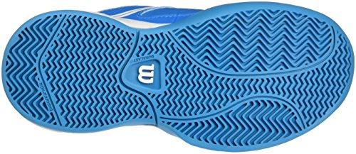 Wilson Zapatillas de Tenis Para Niños, Ideales Para Jugadores de Todos Los Niveles, Para Todo Tipo Tipo de Terreno de Juego, Envy Jr, Tejido/Sintético Azul claro (Methyl Blue/White/Hawaiian Ocean)