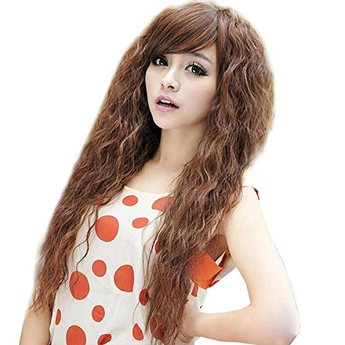 ATOZWIG New Arrival Perruque Cheveux Naturel Synthetic Kinky Curly Long Women Hair Wigs Heat Resistent Hair Cosplay Wig+Cap
