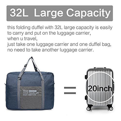 Travel Duffel Bag For Women   Men – Lightweight Carry On Foldable Duffle  For Luggage Gym Sports ... 4375fa128d95e