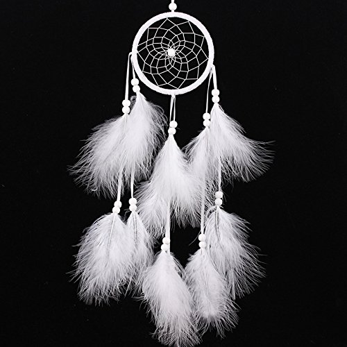 [Newest Handmade Dream Catcher Net With feathers Hanging Decoration Decor Craft Gift Wind Chimes] (Blue Bull Mascot Costume)