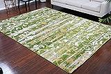 Paris Collection Oriental Carpet Area Rug Cream Green Gold 5052green 2x8 2'2x7'2