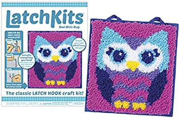 Mini-Rug Sewing Kit The Classic Latch Hook Craft Kit 7.2 Ounces Owl