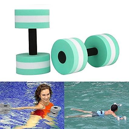 717c78778ff Aolvo Water Aerobics Dumbbells, Water EVA Foam Barbells Exercise Hand Bars  Pool Resistance Exercises Equipment