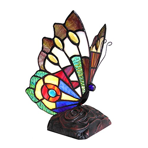 """KACY 7 -style 1 Light Butterfly Accent Table Lamp 9"""" Tall"""
