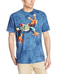 The Mountain 100% Cotton Victory Frog Youth T-Shirt (Blue, X-Large)