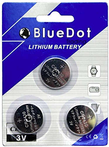 Price comparison product image BlueDot Trading CR2430 Lithium Cell Battery,  3 Count (Packaging may vary)