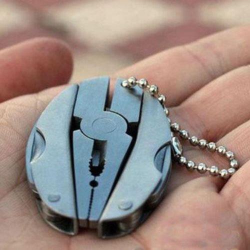Pocket Multi Function Tools Set Mini Foldaway Keychain Pliers Knife Screwdriver - 1