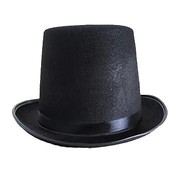 Beito Accesorio del Partido de la Mascarada del Sombrero de Copa Negro  Satinado Estilo Mago  Amazon.es  Hogar 437b02b5d7e
