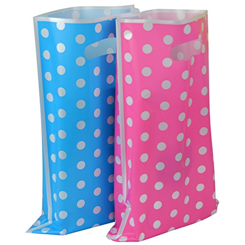 (Plastic Party Favor Bags Assorted Colors 50 pcs (Cute Dots) )