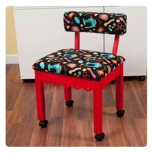 Arrow Chair (Arrow Sewing Cabinet Craft Room Furniture Wood Fabric Chair Red Black Background)