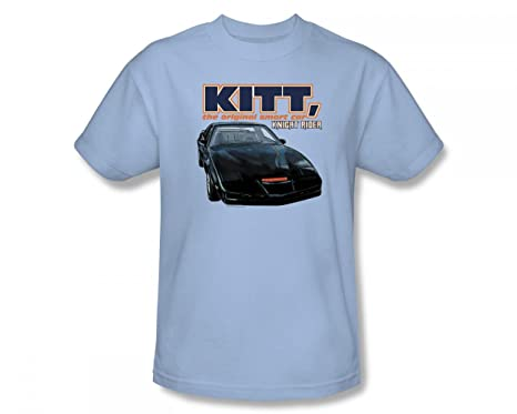 finest selection 82971 b0282 Knight Rider - Original Smart Car Slim Fit Adult T-Shirt In Light Blue   Amazon.co.uk  Clothing