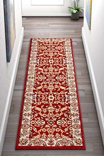 Well Woven Barton Red Sarouk Vintage Modern Casual Traditional 2x7 (2'3